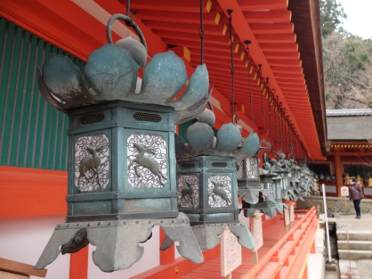 I love the lamps in shrines and temples. They are so beautiful!