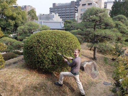 Matt and his trimmed bush