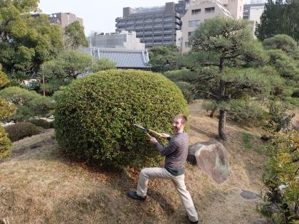 Matt and his trimmed bush