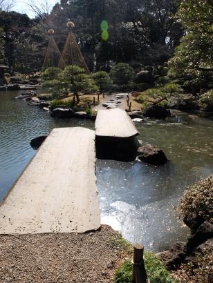 Yatsuhashi shape stone bridge. I love these!
