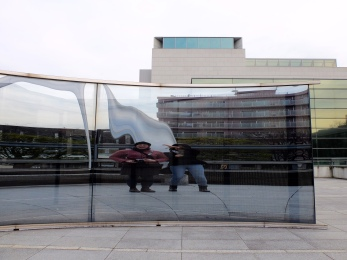 Fun outside the Museum of Contemporary Art. We did this for a long time.