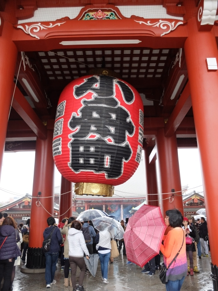 Famous lantern at Sensoji Temple