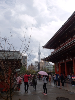 The SkyTree Tower (2nd tallest building in the world), viewed from Sensoji temple