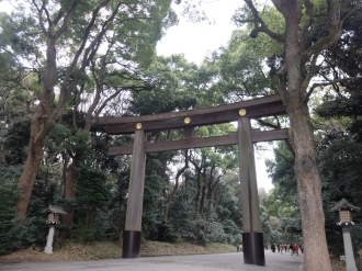 Entrance Torii. There was an even bigger one!