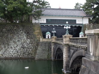 Famous bridge in the grounds of the Imperial Palace