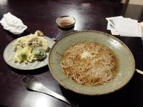 Soba in broth with tempura