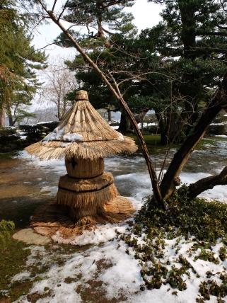 Yuki-gakoi protecting a lantern