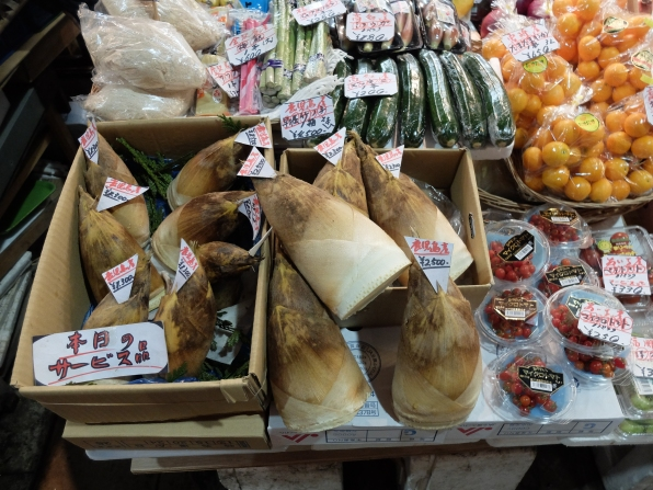The big conical things at the front are bamboo shoots