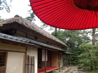 Tea house at Ritsurin: rustic style