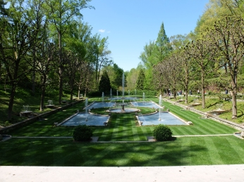 One of the fountain gardens
